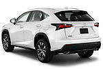 Car pictures of rear three quarter view of 2017 Lexus NX 200t-F-Sport 5 Door SUV Angular Rear