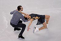 Saturday, April 2, 2016: Ksenia Stolbova and Fedor Klimov (RUS) skate in the Pairs Free Skate Program at the International Skating Union World Championship held at TD Garden, in Boston, Massachusetts. Eric Canha/CSM