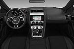 Stock photo of straight dashboard view of 2017 Jaguar F-TYPE - 2 Door Convertible Dashboard