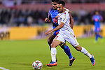 Jamal Rashed Abdulrahman of Bahrain (R) fights for the ball with Pritam Kotal of India during the AFC Asian Cup UAE 2019 Group A match between India (IND) and Bahrain (BHR) at Sharjah Stadium on 14 January 2019 in Sharjah, United Arab Emirates. Photo by Marcio Rodrigo Machado / Power Sport Images