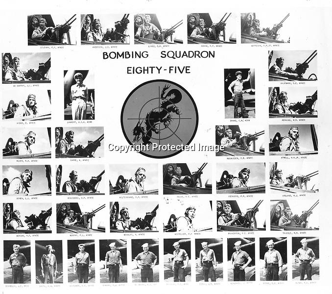 U.S.S. Shangri-La (CV38) Bombing Squadron 85 (VB-85) - they flew SB2C Helldivers - 1944 or 1945