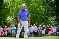 Davis Love III (USA) watches his birdie putt roll in on 10  during round 3 of the Shell Houston Open, Golf Club of Houston, Houston, Texas, USA. 4/1/2017.<br /> Picture: Golffile | Ken Murray<br /> <br /> <br /> All photo usage must carry mandatory copyright credit (&copy; Golffile | Ken Murray)