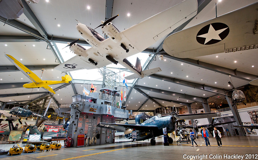 A portion of the WWII-era USS Cabot flight deck is recreated at the National Naval Aviation Museum in Pensacola.