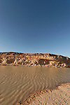 Israel, the Negev Desert. The pool in Ramon Crater