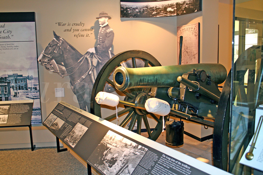 Displays inside visitor center at Kennesaw Mountain National Battlefield Park near Atlanta Georgia
