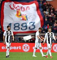 Emre Can, Daniele Rugani and Federico Bernardeschi of Juventus look dejected during the Serie A 2018/2019 football match between Genoa CFC and Juventus FC at stadio Luigi Ferraris, Genova, March 17, 2019 <br /> Photo Andrea Staccioli / Insidefoto
