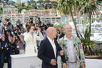 "Bruce Willis, Bill Murray and Wes Anderson attending the ""Moonrise Kingdom"" Photocall during the 65th annual International Cannes Film Festival in Cannes, 16th May 2012...Credit: Timm/face to face /MediaPunch Inc. ***FOR USA ONLY***"