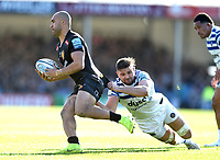 Olly Woodburn of Exeter Chiefs is tackled by Elliott Stooke of Bath Rugby. Gallagher Premiership match, between Exeter Chiefs and Bath Rugby on March 24, 2019 at Sandy Park in Exeter, England. Photo by: Patrick Khachfe / Onside Images