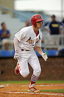 Third baseman Cole Lankford (12) of the Johnson City Cardinals in a game against the Elizabethton Twins on Sunday, July 27, 2014, at Howard Johnson Field at Cardinal Park in Johnson City, Tennessee. The game was suspended due to weather in the fifth inning. (Tom Priddy/Four Seam Images)
