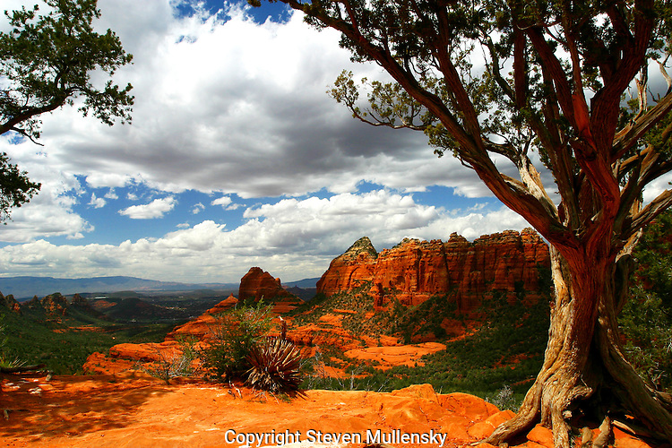 Sedona, Arizona is known for its red rock features and as a spiritual vortex.