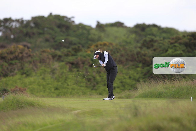 Fiona Liddell (SCO) on the 7th tee during Round 3 Matchplay of the Women's Amateur Championship at Royal County Down Golf Club in Newcastle Co. Down on Friday 14th June 2019.<br /> Picture:  Thos Caffrey / www.golffile.ie