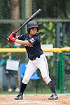 #23 Nozomi Abe of Japan bats during the BFA Women's Baseball Asian Cup match between South Korea and Japan at Sai Tso Wan Recreation Ground on September 2, 2017 in Hong Kong. Photo by Marcio Rodrigo Machado / Power Sport Images