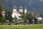 Team Sunweb Womens team in action during the Women's Team Time Trial of the 2018 UCI Road World Championships running 54.7km from Ötztal to Innsbruck, Innsbruck-Tirol, Austria 2018.<br /> Picture: Innsbruck-Tirol 2018/BettiniPhoto | Cyclefile<br /> <br /> <br /> All photos usage must carry mandatory copyright credit (© Cyclefile | BettiniPhoto/Innsbruck-Tirol 2018)