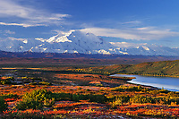 Wonder lake, autumn Alaska Range, Denali National Park, Alaska