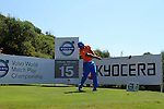Johan Edfors (SWE) tees off on the 15th tee during the morning session on Day 3 of the Volvo World Match Play Championship in Finca Cortesin, Casares, Spain, 21st May 2011. (Photo Eoin Clarke/Golffile 2011)