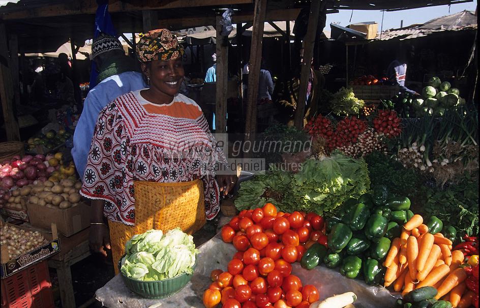 Afrique/Afrique de l'Ouest/Sénégal/Dakar : Marché Sandaga