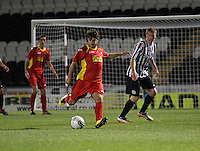 Ivan D'Angelo in the St Mirren v Dunfermline Athletic Clydesdale Bank Scottish Premier League U20 match played at St Mirren Park, Paisley on 2.10.12..