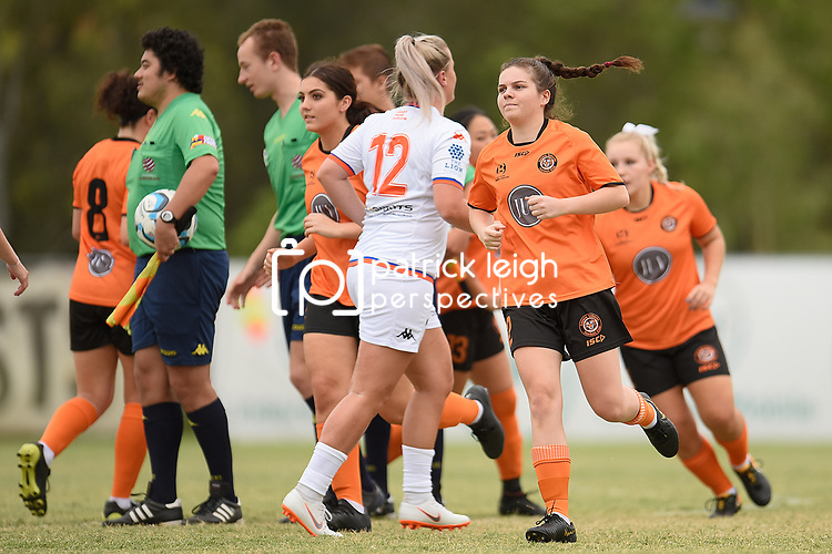 BRISBANE, AUSTRALIA - MARCH 2:  during the NPL Queensland Senior Womens Round 3 match between Eastern Suburbs FC and Lions FC at Heath Park on March 2, 2019 in Brisbane, Australia. (Photo by Patrick Kearney)