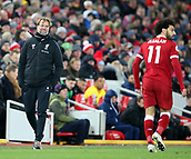 17th March 2018, Anfield, Liverpool, England; EPL Premier League football, Liverpool versus Watford; Jurgen Klopp, Liverpool manager looks on during the second half