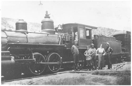 Engine #164 at Embudo, NM.<br /> D&amp;RGW  Embudo, NM  Taken by Richardson, Robert W. - 7/3/1941
