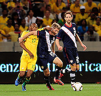 15 Logan Pause of the USA during the  Soccer match between South Africa and USA played at the Greenpoint in Cape Town South Africa on 17 November 2010.