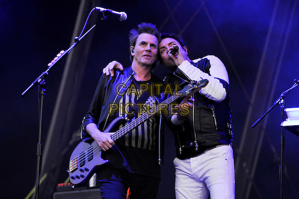 SOUTHAMPTON, ENGLAND - MAY 29: John Taylor and Simon Le Bon of 'Duran Duran' performing at Common People Festival, Southampton Common on May 29, 2016 in London, England.<br /> CAP/MAR<br /> &copy;MAR/Capital Pictures