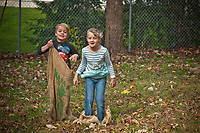 Codi, left, and Kayla Mosher run a burlap bag race at the annual Ned Mosher Apple Butter Festival. The festival held at the Knox-Metzker log cabin on the grounds of McVay Elementary School in Westerville every year helps raise money to maintain the cabin as a teaching tool for students at the school.