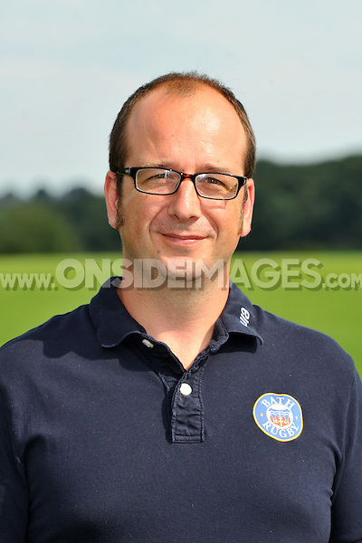 Head of Sports Medicine Richard Mack poses for a portrait at the squad photocall. Bath Rugby Media Day on August 27, 2013 at Farleigh House in Bath, England. Photo by: Patrick Khachfe/Onside Images