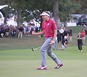 Ian Poulter during the afternoon fourballs on Saturday at the Ryder Cup 2012, Medinah Country Club,Medinah, Illinois,USA 27/09/2012.Picture: Fran Caffrey/www.golffile.ie.