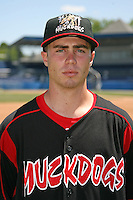 June 16, 2009:  Scott Schneider of the Batavia Muckdogs poses for a head shot before the teams practice at Dwyer Stadium in Batavia, NY.  The Batavia Muckdogs are the NY-Penn League Single-A affiliate of the St. Louis Cardinals.  Photo by:  Mike Janes/Four Seam Images