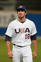24 September 2009: Ike Davis of Team USA is seen prior to the 2009 Baseball World Cup final round match won 5-3 by Team USA over Cuba, in Nettuno, Italy.