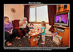 Maidhc Danin and Caitleen O'Se at home watching Daithi O'Se at the Rose of Tralee in 2010.<br /> Picture: macmonagle archive<br /> e: info@macmonagle.com