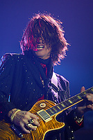 Joe Perry and Aerosmith perform at the Forum