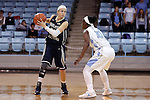 22 November 2016: Charleston Southern's Alyssa Mann (left) and North Carolina's Jamie Cherry (10). The University of North Carolina Tar Heels hosted the Charleston Southern University Buccaneers at Carmichael Arena in Chapel Hill, North Carolina in a 2016-17 NCAA Women's Basketball game. UNC won the game 93-77.