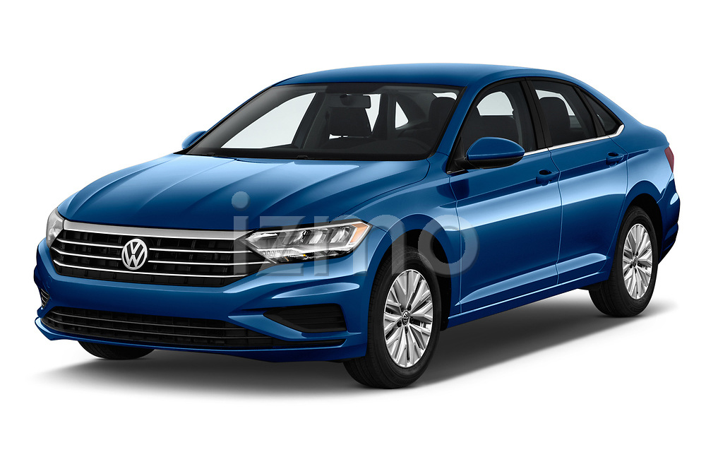 2019 Volkswagen Jetta S 4 Door Sedan angular front stock photos of front three quarter view