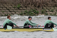 Hammersmith, GREATER LONDON. United Kingdom Cambridge University  Boat  Club, Pre Boat Race Fixture CUBC vs ITA M8+ for the 2017 Boat Race The Championship Course, Putney to Mortlake on the River Thames.<br /> <br /> Saturday  18/03/2017<br /> <br /> [Mandatory Credit; Peter SPURRIER/Intersport Images]<br /> CUBC<br /> <br /> [R-L] Aleksander Malowany, 4. Timothy Tracey, 3. James Letten,