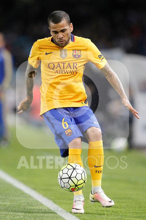FC Barcelona's Dani Alves during La Liga match. April 9,2016. (ALTERPHOTOS/Acero)
