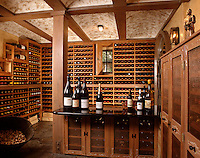 A beautiful private WINE CELLAR is satocked with a wide selection of carefully picked wines.