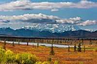 Autumn landscape near Wonder Lake, Denali National Park, Alaska.