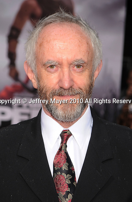 """HOLLYWOOD, CA. - May 17: Jonathan Pryce arrives at the """"Prince of Persia: The Sands of Time"""" Los Angeles Premiere held at Grauman's Chinese Theatre on May 17, 2010 in Hollywood, California."""