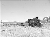 D&amp;RGW #495 with pipe train near Carbon Junction, headed for Farmington.<br /> D&amp;RGW  Carbon Junction, CO  Taken by Richardson, Robert W.