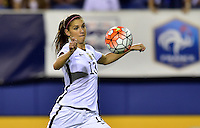 Boca Raton, FL. - March 9, 2016: The U.S. Women's National team tie up the match 1-1 versus Germany late in first half action during  the 2016 SheBelieves Cup at FAU Stadium.
