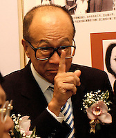 "Li Ka Shing was at the opening ceremony of ""Giant of the Century"" - an exhibition to commemorate the 100th Anniversary of the Birth of Deng Xiaoping in Hong Kong. The exhibition aims at introducing Deng's life to the people of Hong Kong.<br /> 26-AUG-04"