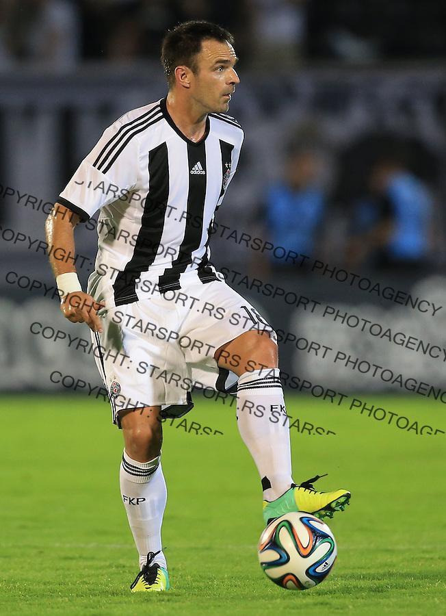 Fudbal Football Soccer<br /> UEFA Champions league-2nd qualifying round<br /> Partizan v HB Torshavn (Faroe Islands)<br /> Nikola Drincic<br /> Beograd, 07.15.2014.<br /> foto: Srdjan Stevanovic/Starsportphoto &copy;