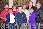 Enjoying a special celie weekend was Edmund Doran(Brosna), Joan Brown(Templeglantine), Noreen O'Flaherty(moyvane), John Nolan(Knocknagoshal), JP O'Flaherty(Castlegregory), Frank and Marie Costello(Beal) and Brendan O'Sullivan(Ballyymacelligott) pictured here last Saturday night in The Devon Inn, Templeglantine.
