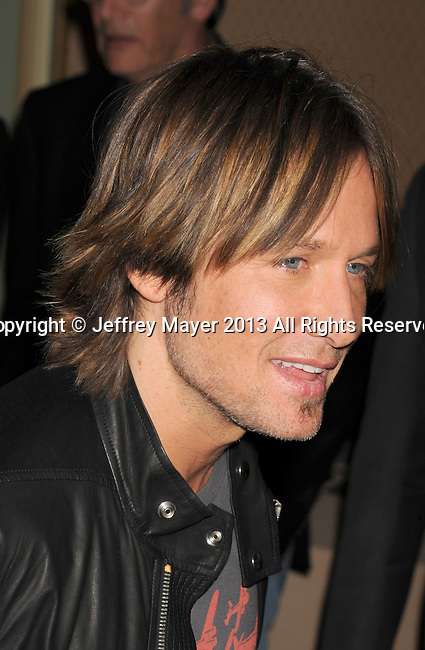 PASADENA, CA - JANUARY 08: Keith Urban  . arrives at the 2013 TCA Winter Press Tour - FOX All-Star Party at The Langham Huntington Hotel and Spa on January 8, 2013 in Pasadena, California.