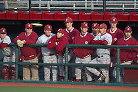 PULLMAN, WA-April 2, 2011:  Stanford reserves observe  in a game against Washington State University in Pullman, Washington.  Stanford won the game 22-3.