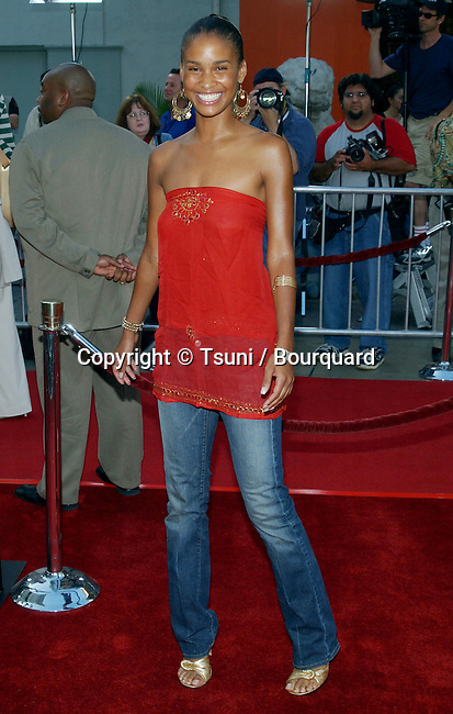 """Joy Bryant arriving at the Premiere of """" The Italian Job """" at the Chinese Theatre in Los Angeles. May 27, 2003."""