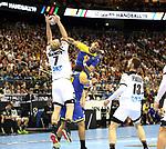 12.01.2019, Mercedes Benz Arena, Berlin, GER, Germany vs. Brazil, im Bild Patrick Wiencek (GER #7), Hendrik Pekeler (GER #13), Raul Nantes (BRA #49)<br /> <br />      <br /> Foto &copy; nordphoto / Engler