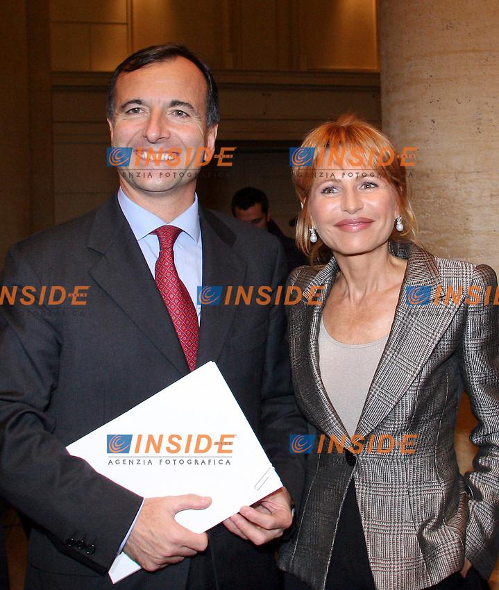 Roma 08-11-2006 Presentazione del libro di Lilli Gruber &quot;America anno zero&quot;<br /> Nella foto Lilli Gruber e Franco Frattini<br /> Photo Serena Cremaschi Inside (www.insidefoto.com)